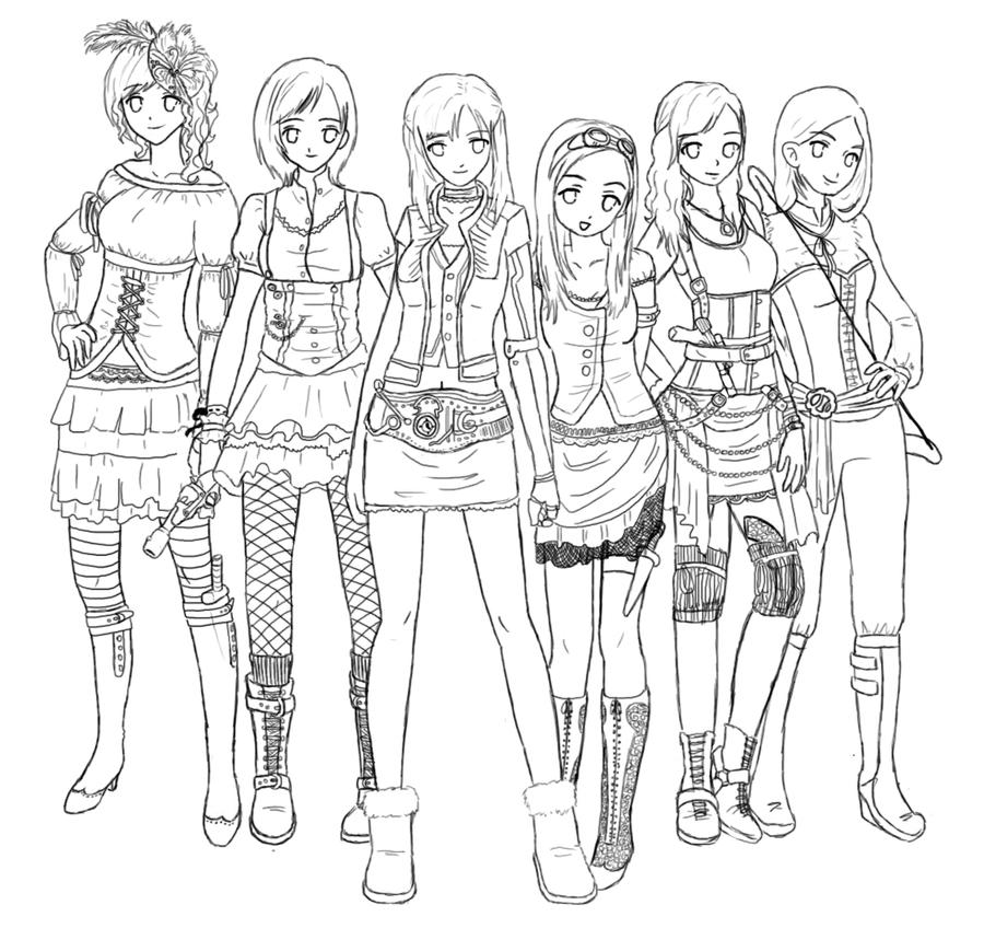 group of girls coloring pages free printable coloring pages for girls of group coloring pages girls