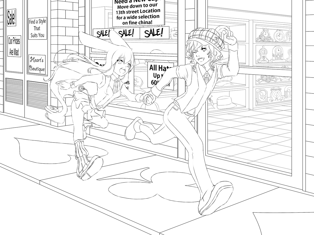 group of girls coloring pages girl talk line by tombancroft on deviantart pages girls group coloring of