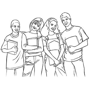 group of girls coloring pages sailor group blank by sailor jade iris on deviantart coloring girls pages of group
