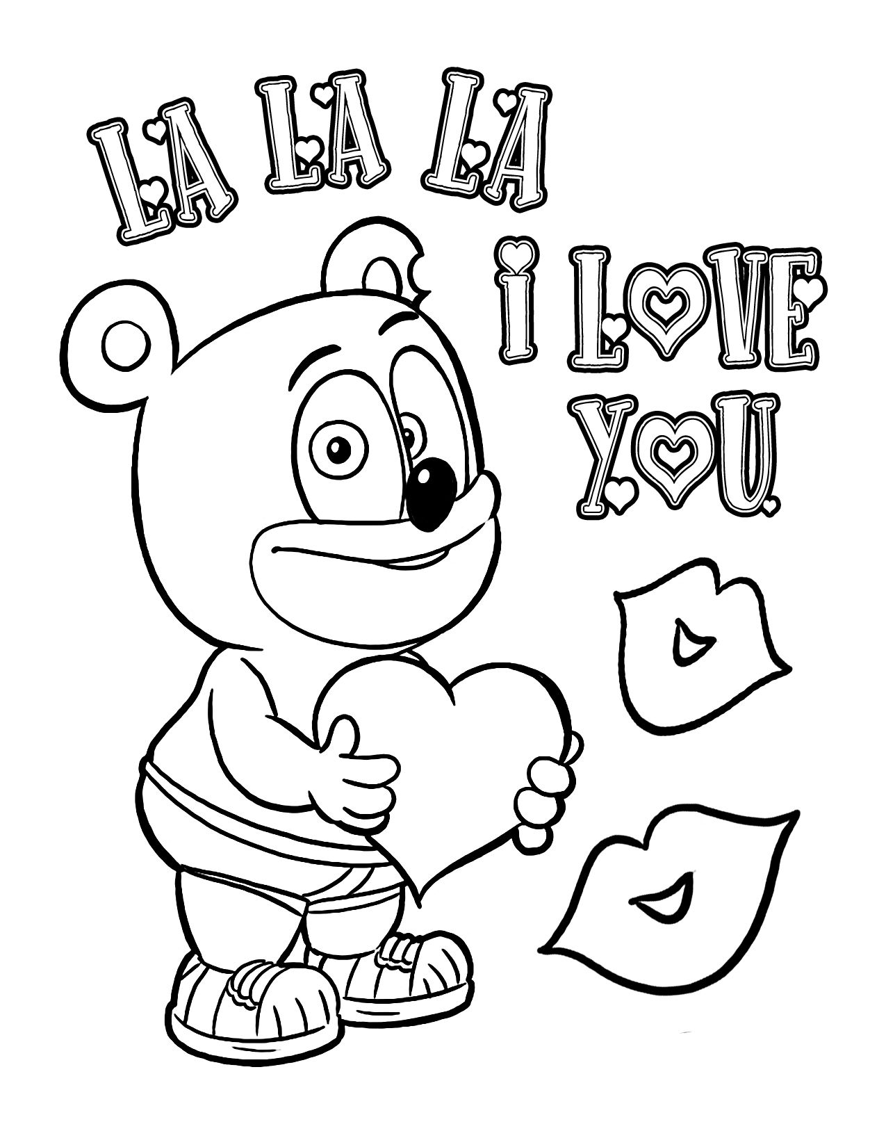 gummy bear coloring page gummibär the gummy bear coloring page lets play ball coloring bear gummy page