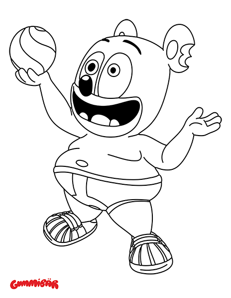 gummy bear coloring page smiling grammi gummi coloring page free disney39s gummy coloring page bear