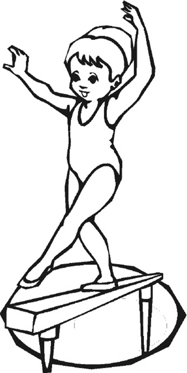 gymnastics coloring page olympics coloring pages young gymnast on balance beam page coloring gymnastics