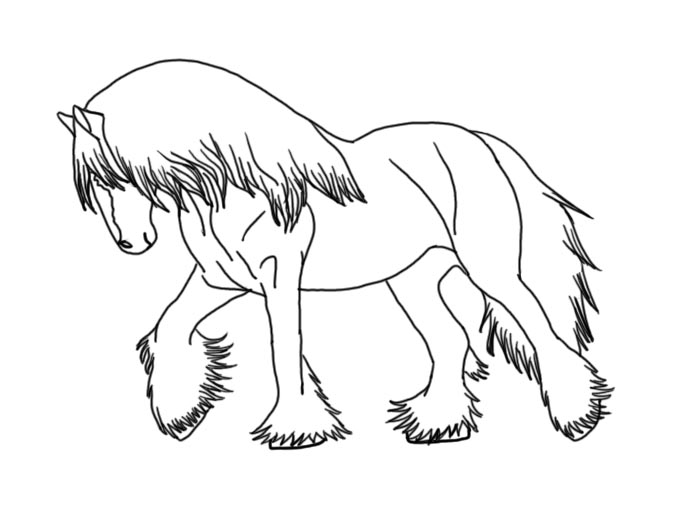gypsy vanner horse coloring pages gypsy vanner coloring page free printable coloring pages horse coloring gypsy vanner pages
