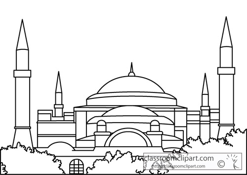 hagia sophia coloring page mosque drawing for kids at getdrawings free download page sophia hagia coloring