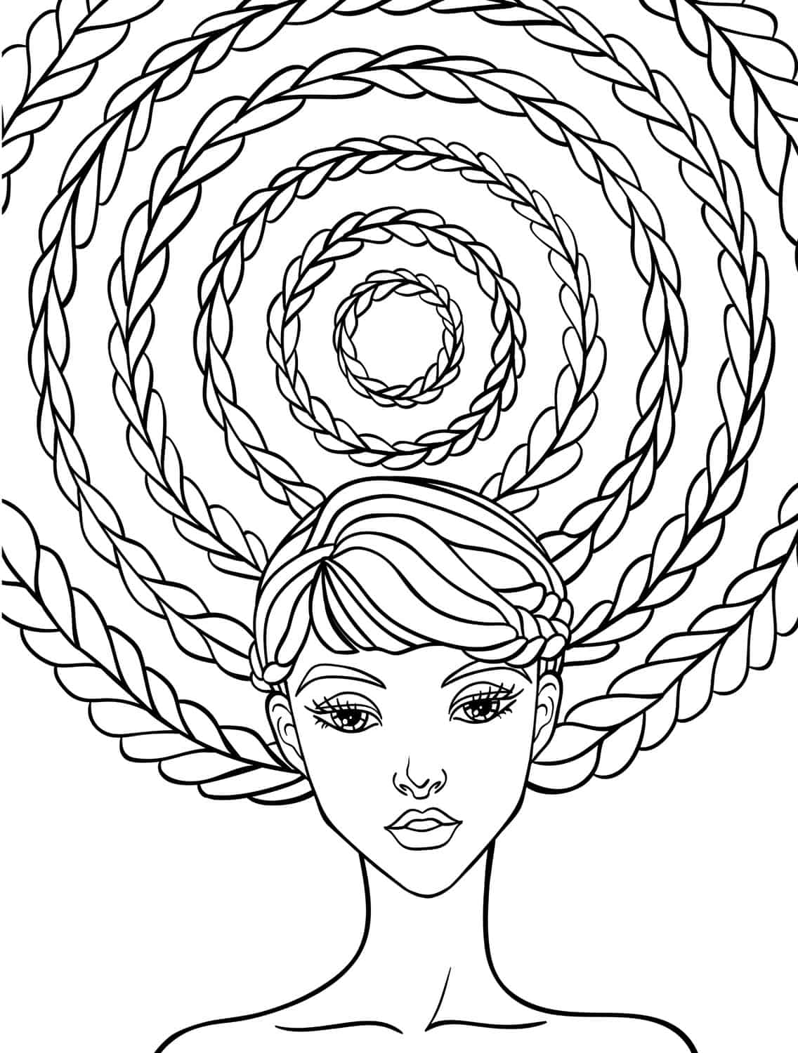 hair colouring pages curly hair coloring pages at getcoloringscom free pages hair colouring