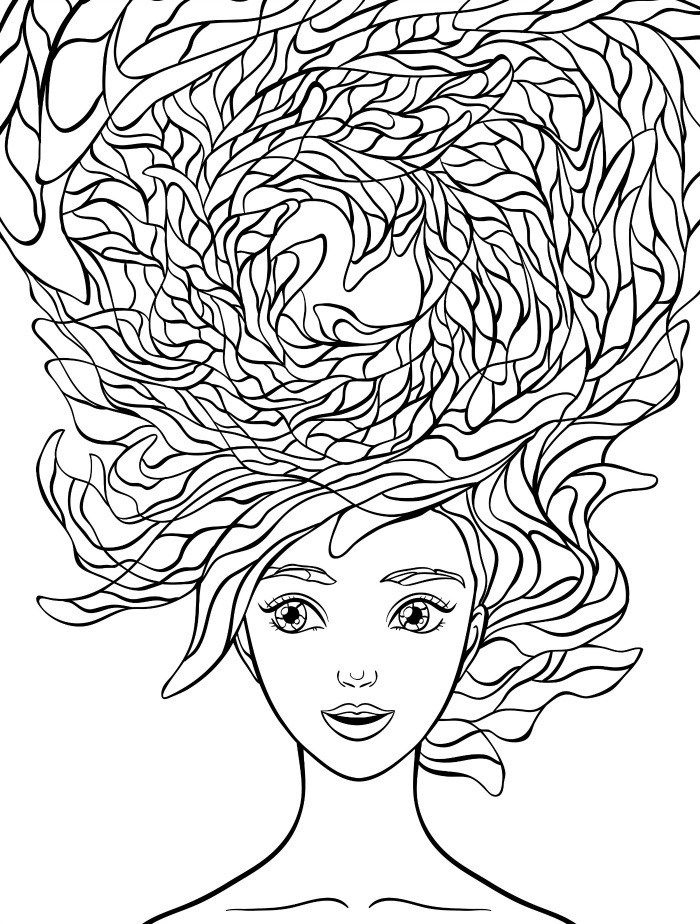 hair colouring pages girl hair coloring pages at getcoloringscom free colouring hair pages