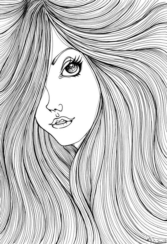 hair colouring pages hair brush coloring page at getcoloringscom free pages colouring hair