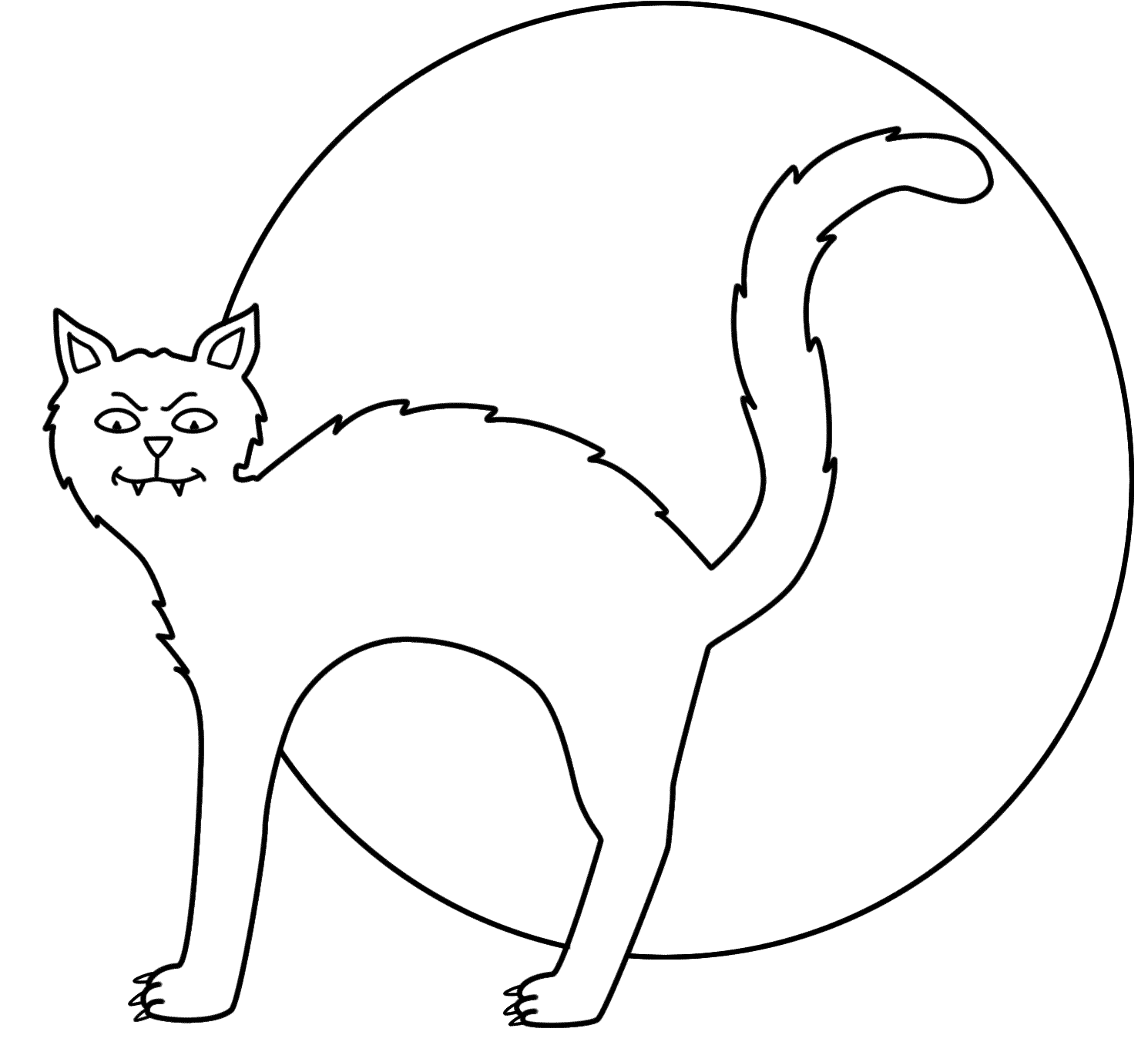 halloween black cat coloring pages black cats drawing at getdrawings free download cat pages coloring black halloween