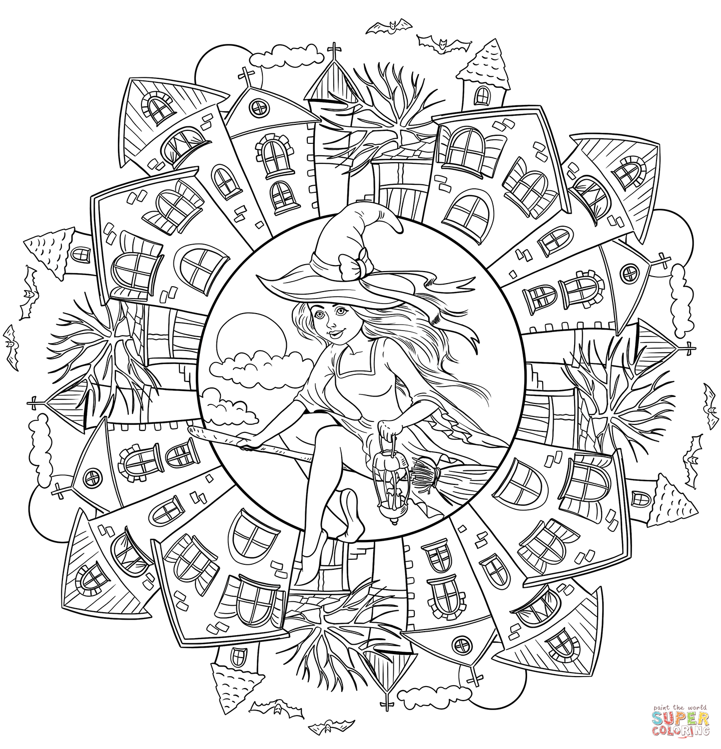 halloween mandala coloring pages coloring pages halloweens mandalas drawing 1 funnycrafts pages coloring mandala halloween