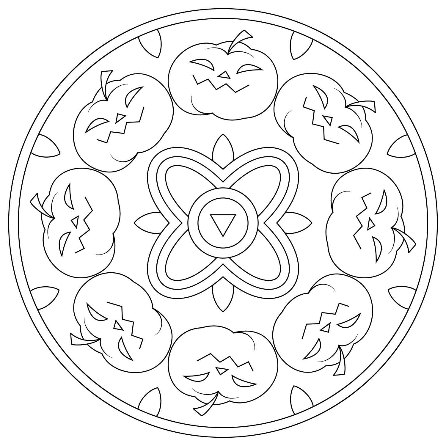 halloween mandala coloring pages halloween mandala with pumpkins coloring page free coloring mandala halloween pages