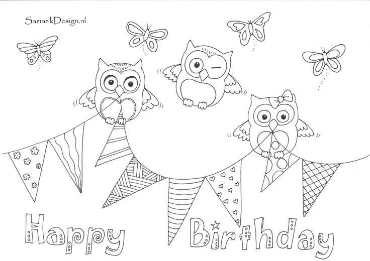 happy 13th birthday coloring pages 273 best images about kleurplaten voor volwassenen happy coloring pages 13th birthday