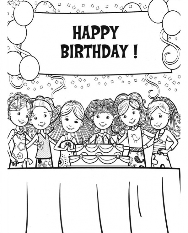happy 13th birthday coloring pages free 20 coloring pages in ai for girls in psd ai happy coloring 13th birthday pages