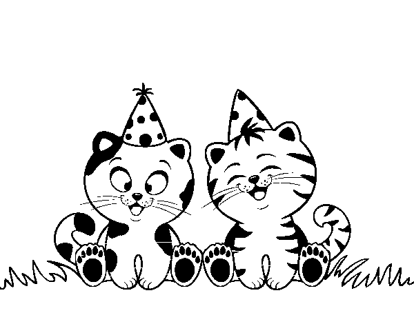 happy birthday cat coloring page birthday cats coloring page coloringcrewcom page birthday coloring happy cat