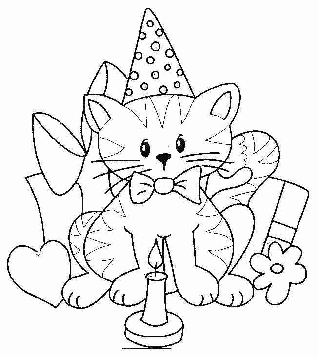 happy birthday cat coloring page geburtstag ausmalbilder katzen cat coloring page cat cat birthday happy coloring page