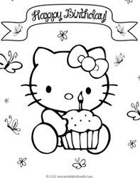 happy birthday cat coloring page i think that the adults should print out birthday coloring coloring birthday page happy cat