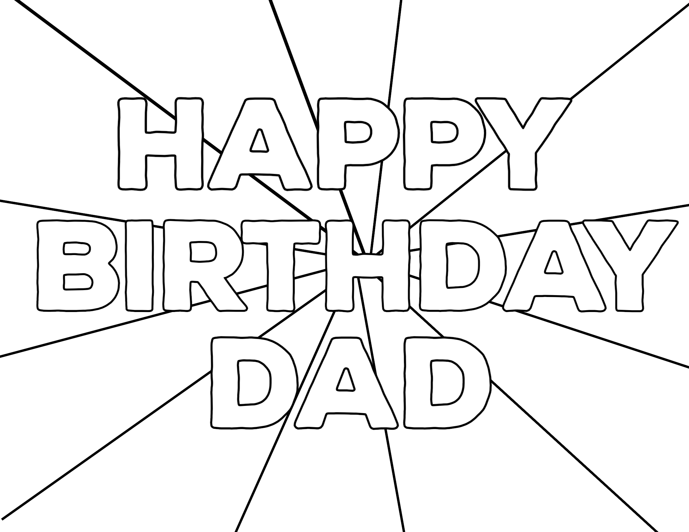 happy birthday colouring pages for dad happy birthday dad printable coloring pages coloring home colouring birthday pages for happy dad