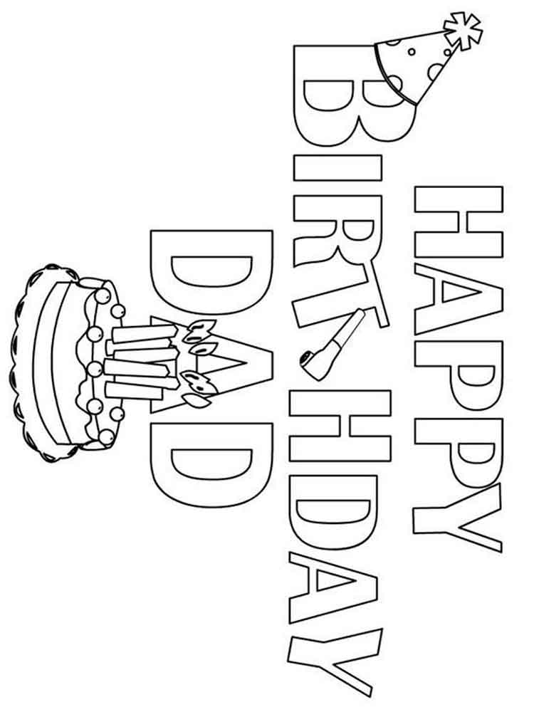 happy birthday colouring pages for dad happy birthday daddy coloring page for kids holiday pages colouring for birthday dad happy