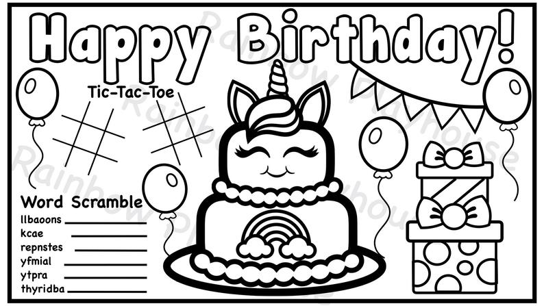 happy birthday unicorn coloring pages 55 best happy birthday coloring pages free printable pdfs coloring happy unicorn pages birthday