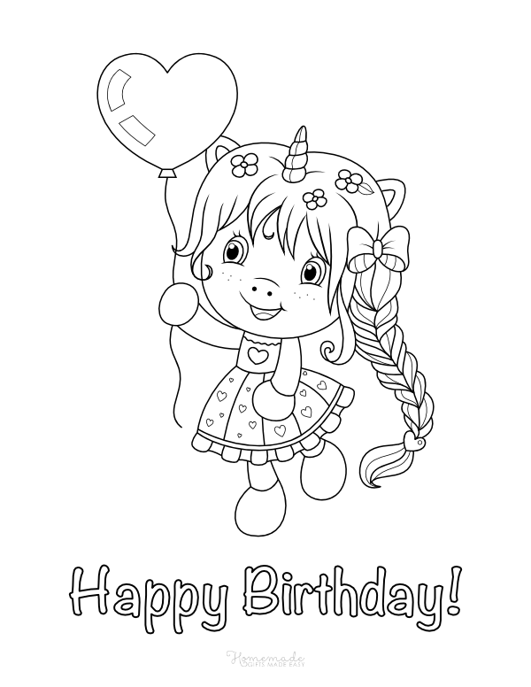 happy birthday unicorn coloring pages happy birthday unicorn coloring pages happy coloring birthday unicorn pages