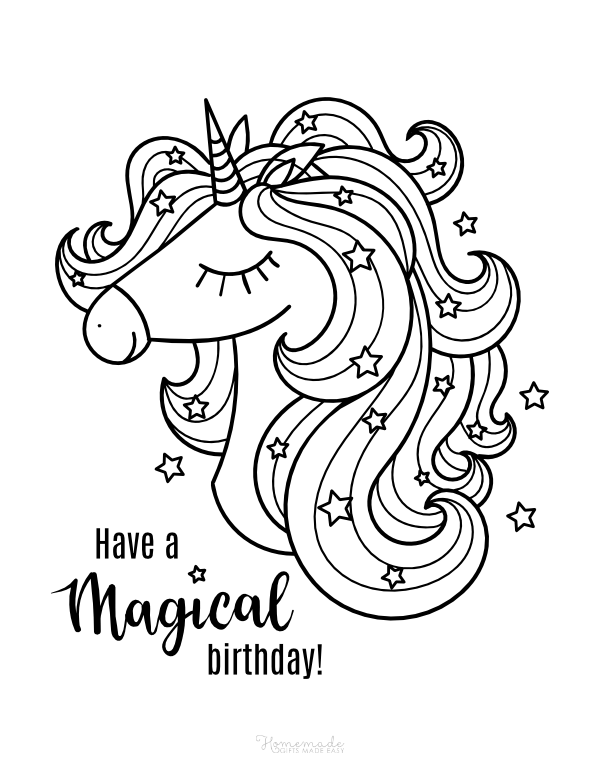 happy birthday unicorn coloring pages my little pony happy birthday coloring page for kids coloring birthday happy pages unicorn