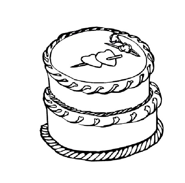 heart cake coloring pages cake with a heart kiddicolour pages heart cake coloring