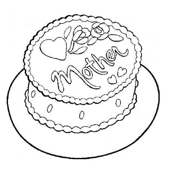 heart cake coloring pages creamy cake coloring page supercoloringcom cake coloring pages heart