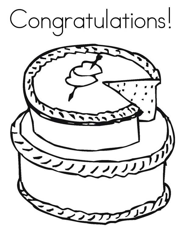 Heart cake coloring pages
