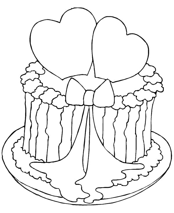 heart cake coloring pages valentine cake coloring picture 044 coloring pages heart cake