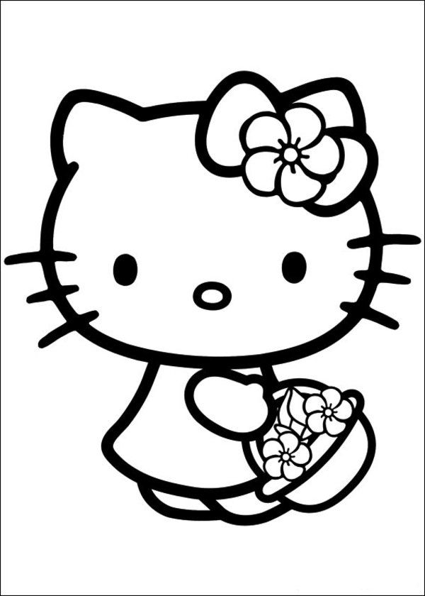 hello kitty coloring pages free free printable hello kitty coloring pages for pages coloring pages free kitty hello