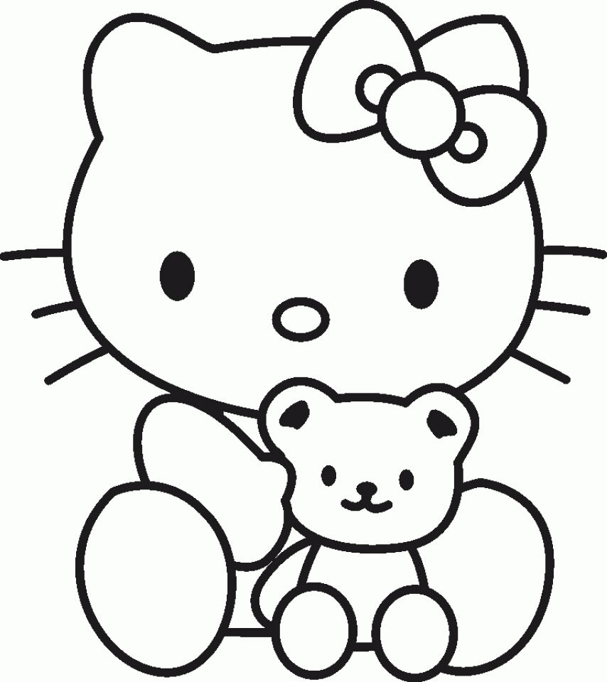hello kitty coloring pages free hello kitty rainbow coloring page free printable lusine pages hello kitty coloring free