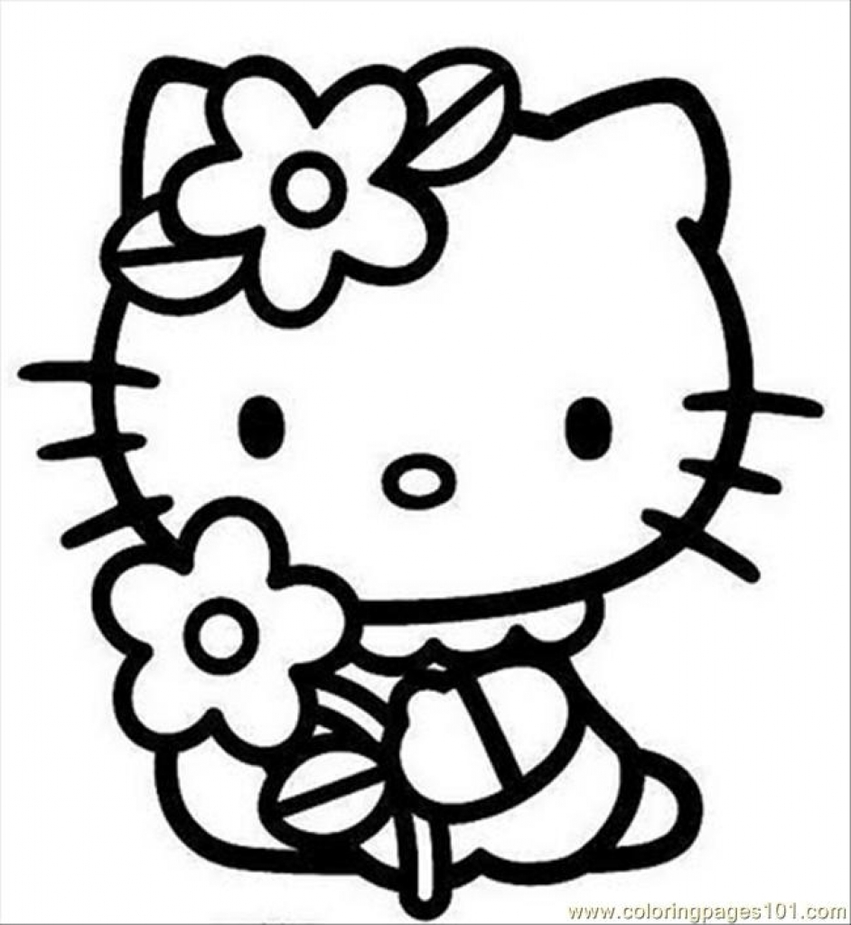 Hello kitty coloring pages that you can print