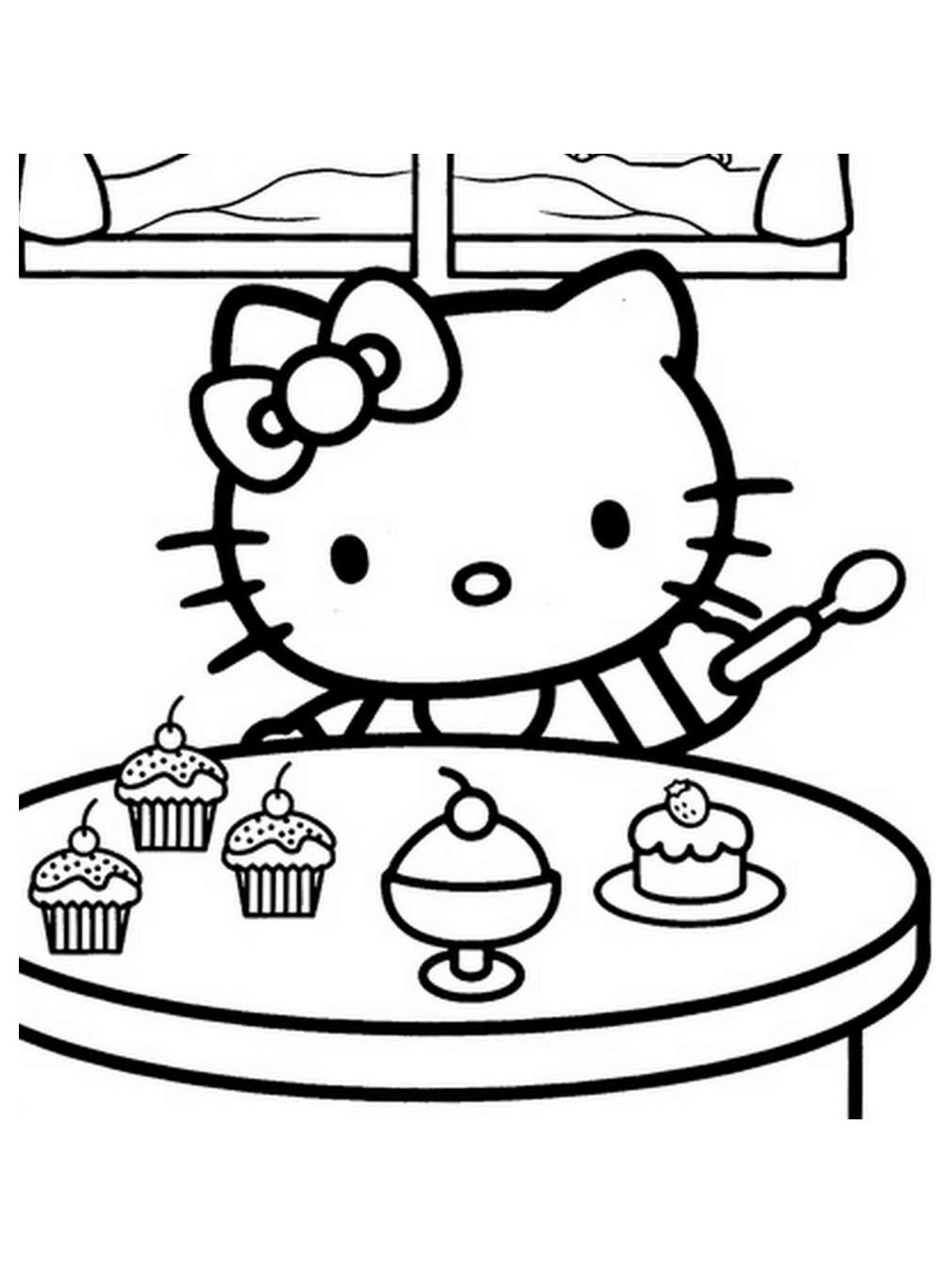 hello kitty printable coloring pages for kids to color at getdrawings free kitty hello printable