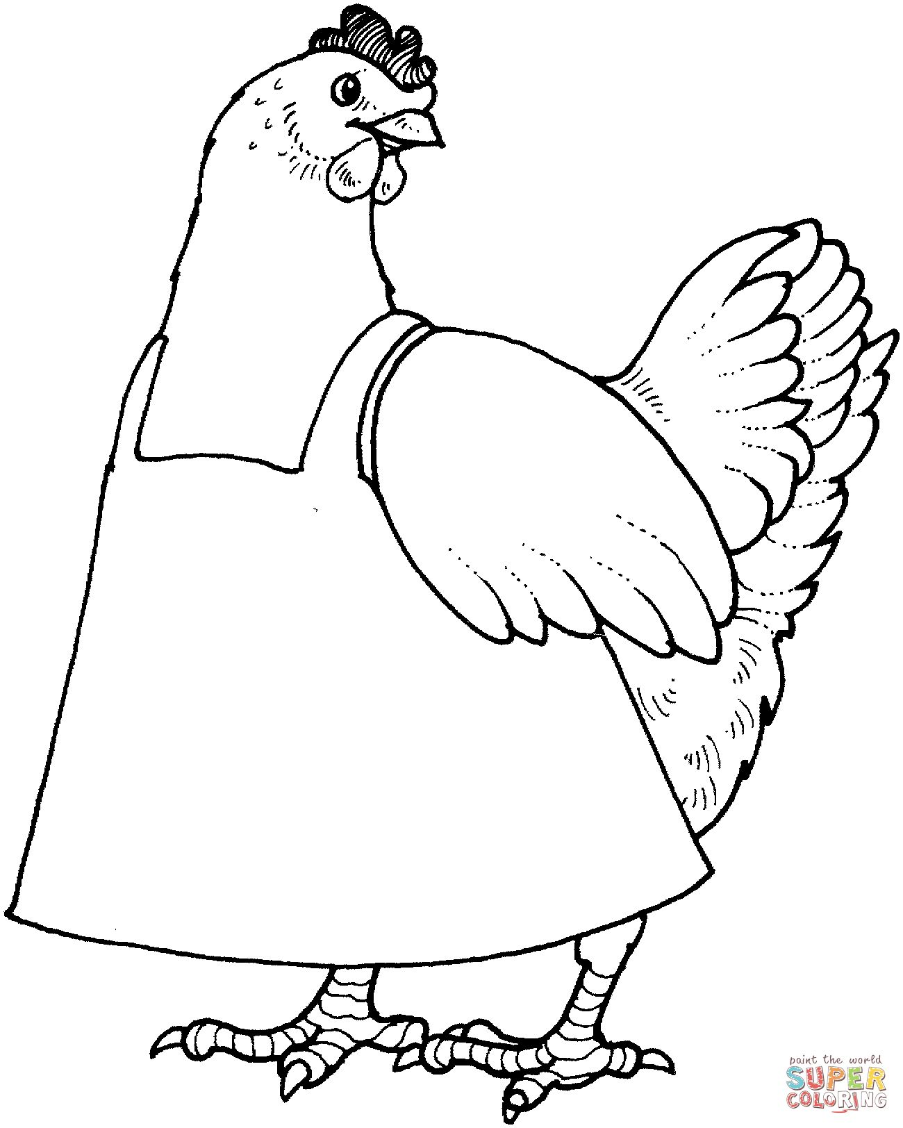 hen for coloring coloring page hen on the meadow for hen coloring