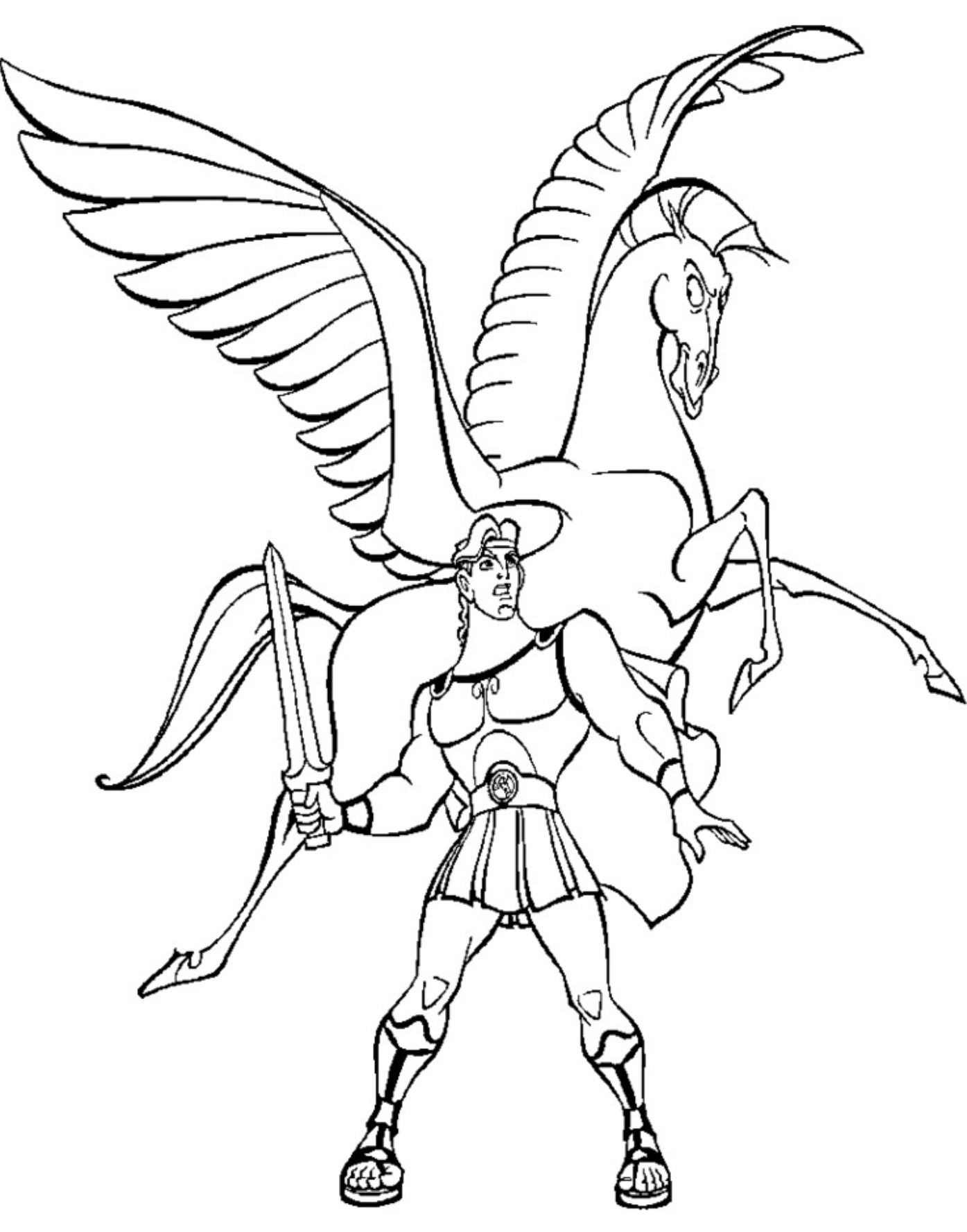 hercules coloring pages hercules showing his arms coloring page free hercules pages coloring hercules