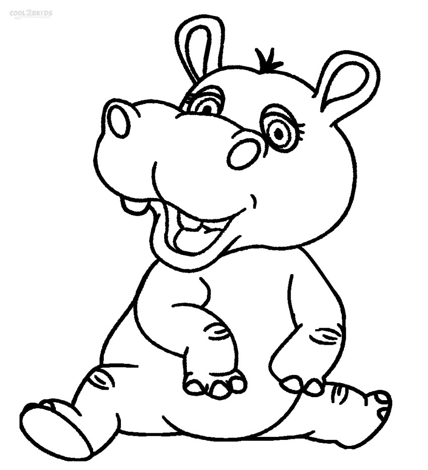 hippo coloring free hippo coloring pages hippo coloring