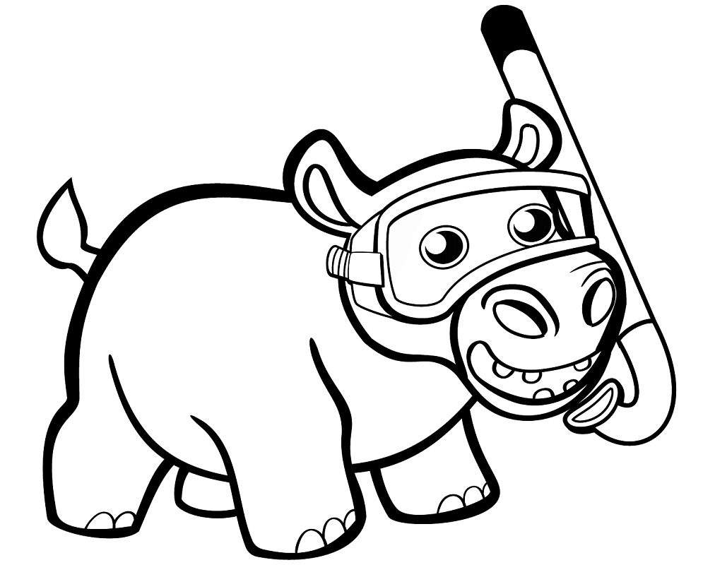 hippo coloring hippo coloring pages for kids at getdrawings free download hippo coloring