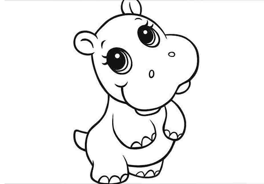 hippo coloring kids page cartoon hippo colouringpage 2 coloring pages coloring hippo