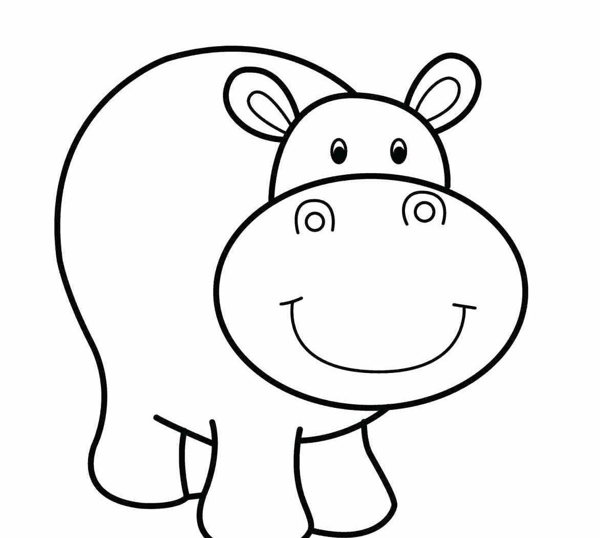 hippo outline drawing cartoon hippo drawing at getdrawings free download drawing hippo outline