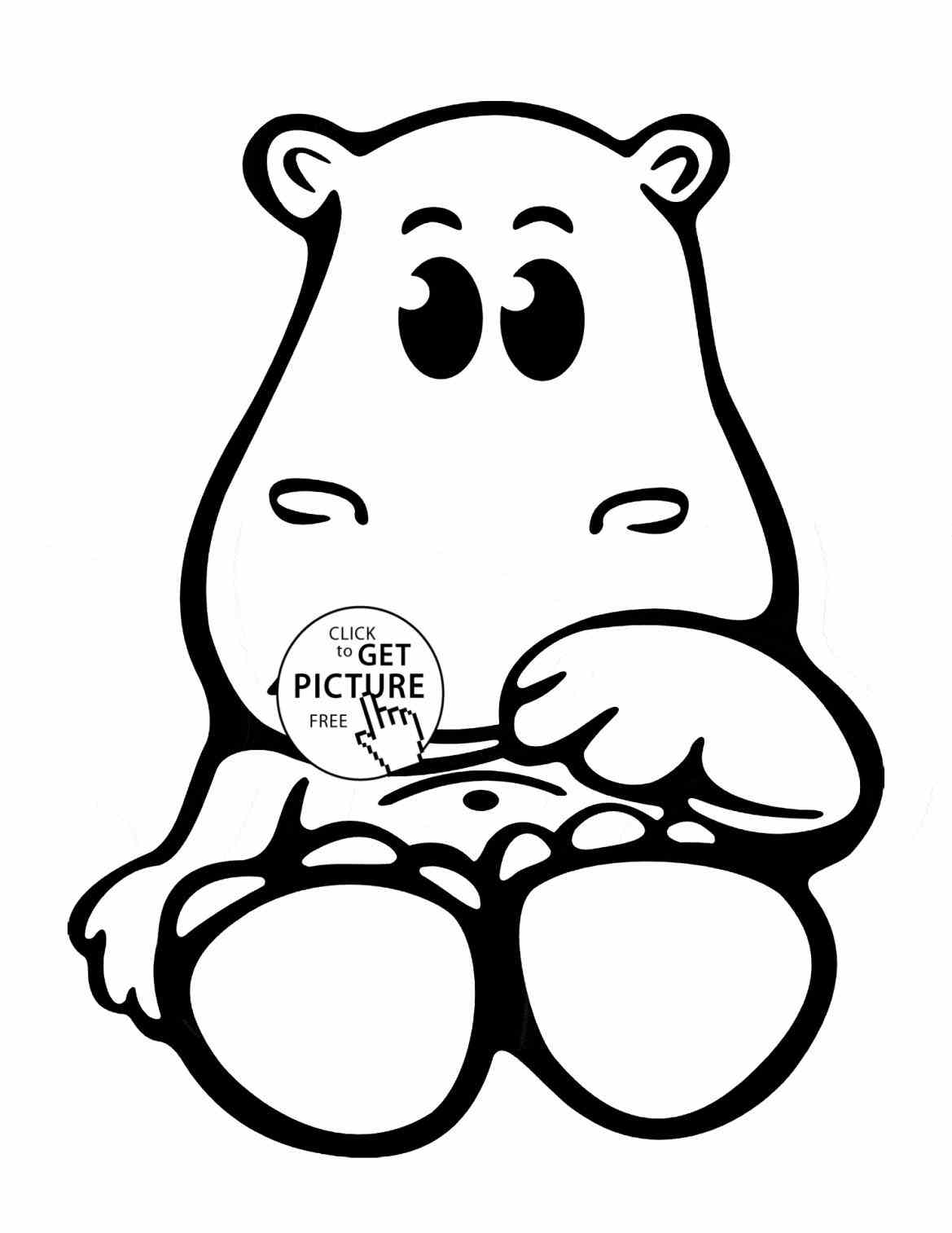 hippo outline drawing free hippo coloring pages hippo drawing outline