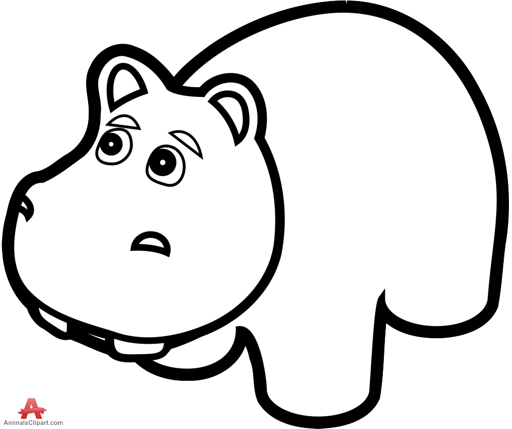hippo outline drawing hand drawing outline illustration of hippo stock vector outline hippo drawing