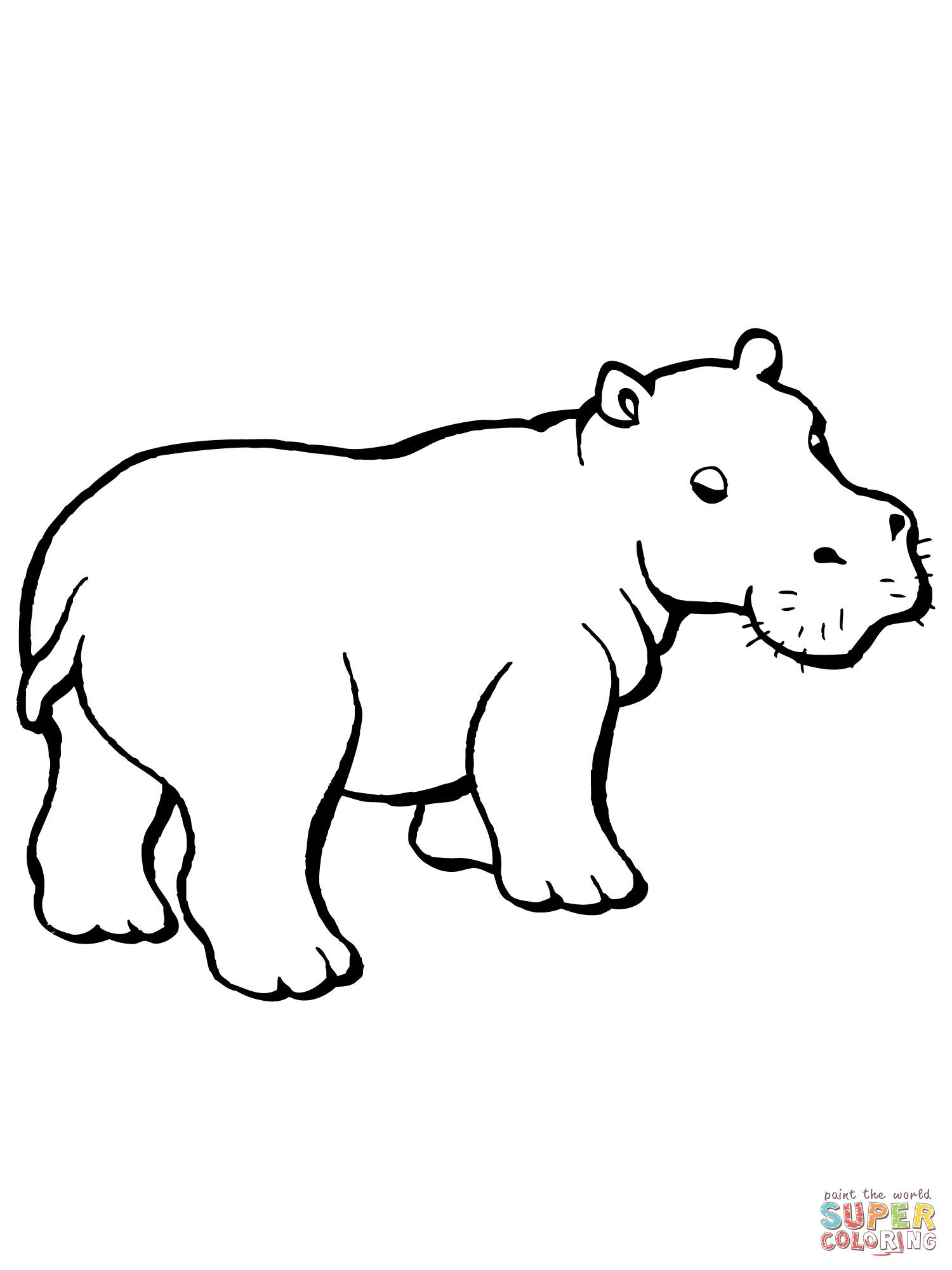hippo outline drawing hippo outline drawing at paintingvalleycom explore outline drawing hippo