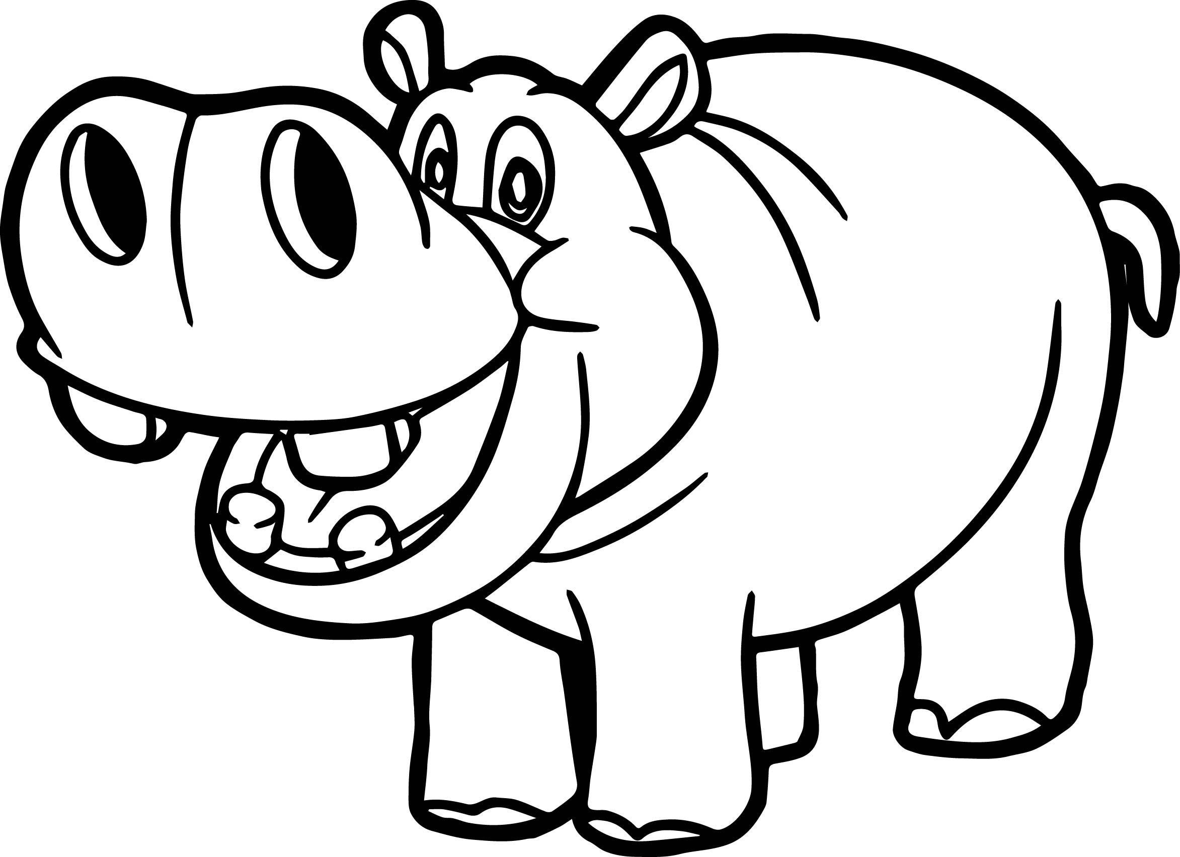Hippo outline drawing