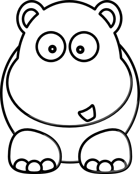 hippo outline drawing hippopotamus outline coloring page free printable drawing outline hippo