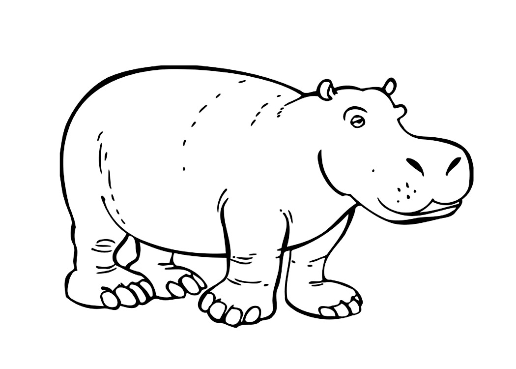 hippo outline drawing side hippo outline clip art at clkercom vector clip art drawing hippo outline