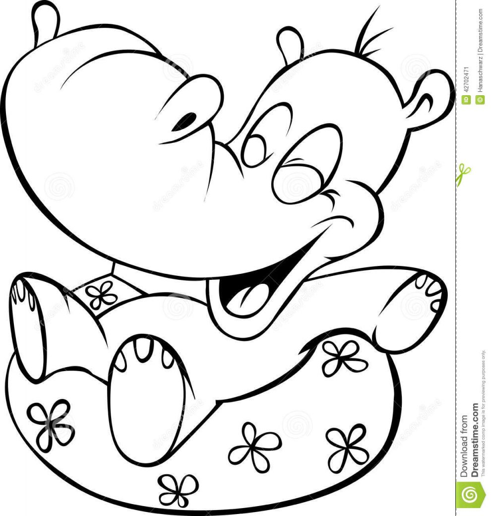 hippo outline drawing white hippo clip art at clkercom vector clip art online outline hippo drawing