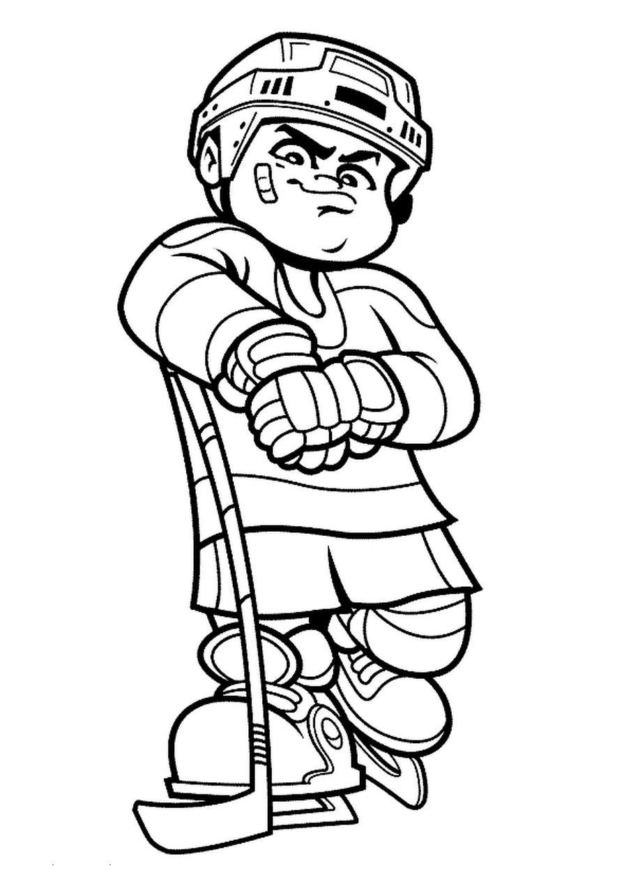 Hockey players coloring pages