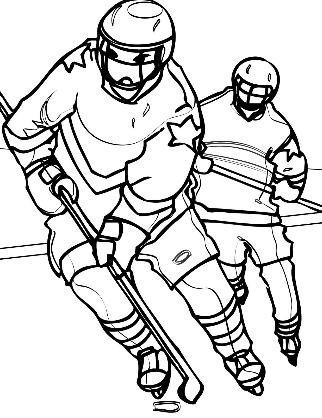 hockey players coloring pages cartoon hockey players clipartsco coloring hockey pages players