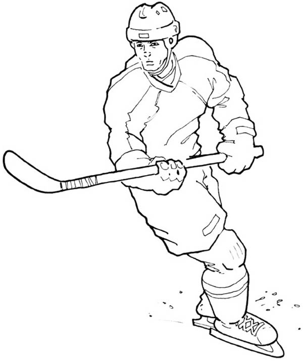 hockey players coloring pages hockey player free coloring page topcoloringpagesnet hockey players coloring pages