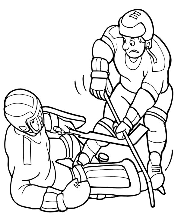 hockey players coloring pages hockey player try to get the puck back coloring page netart pages coloring players hockey