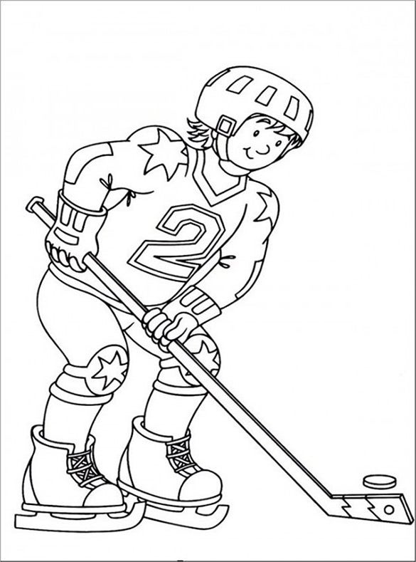 hockey players coloring pages httpwwwprintactivitiescomcoloringpageshockey pages coloring hockey players